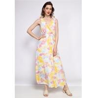 Υφασμάτινα Γυναίκα Κοντά Φορέματα Fashion brands R185-JAUNE Yellow