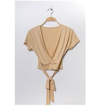 Υφασμάτινα Γυναίκα Μπλούζες Fashion brands FR029T-BEIGE Beige