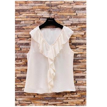 Υφασμάτινα Γυναίκα Μπλούζες Fashion brands ERMD-13797-CP-BLANC Άσπρο