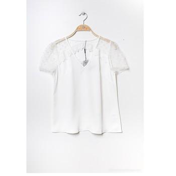 Υφασμάτινα Γυναίκα Μπλούζες Fashion brands K5518-WHITE Άσπρο