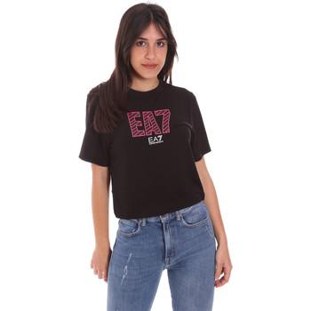 Υφασμάτινα Γυναίκα T-shirt με κοντά μανίκια Ea7 Emporio Armani 3KTT23 TJ1TZ Μαύρος