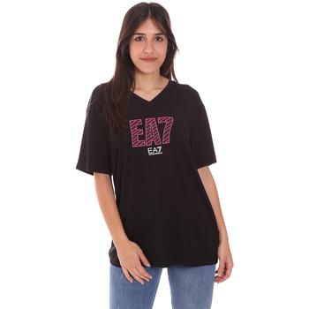 Υφασμάτινα Γυναίκα T-shirt με κοντά μανίκια Ea7 Emporio Armani 3KTT24 TJ1TZ Μαύρος
