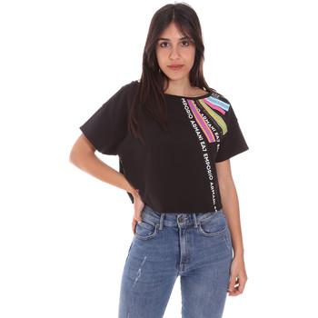 Υφασμάτινα Γυναίκα T-shirt με κοντά μανίκια Ea7 Emporio Armani 3KTT40 TJ39Z Μαύρος