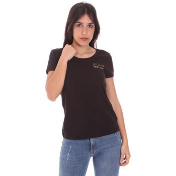 Υφασμάτινα Γυναίκα T-shirt με κοντά μανίκια Ea7 Emporio Armani 8NTT65 TJ28Z Μαύρος