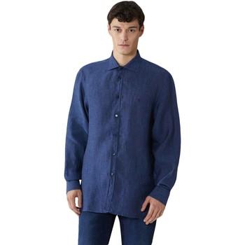 Υφασμάτινα Άνδρας Πουκάμισα με μακριά μανίκια Trussardi 52C00212-1T002248 Μπλε