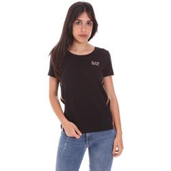 Υφασμάτινα Γυναίκα T-shirt με κοντά μανίκια Ea7 Emporio Armani 3KTT51 TJ9VZ Μαύρος