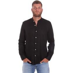Υφασμάτινα Άνδρας Πουκάμισα με μακριά μανίκια Refrigiwear RM0C10100LI9110 Μαύρος