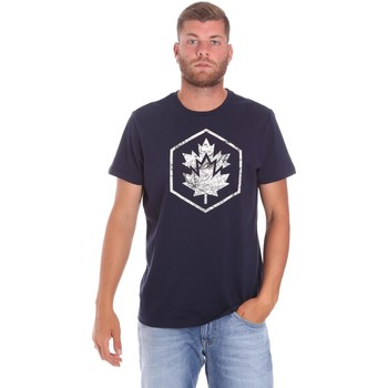 Υφασμάτινα Άνδρας T-shirt με κοντά μανίκια Lumberjack CM60343 023EU Μπλε