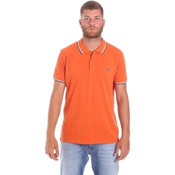 Υφασμάτινα Άνδρας Πόλο με κοντά μανίκια  Lumberjack CM45940 016EU Πορτοκάλι
