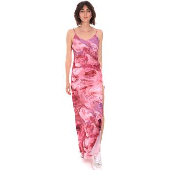 Υφασμάτινα Γυναίκα Μακριά Φορέματα Me Fui M20-0958X1 Ροζ