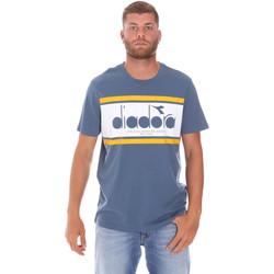Υφασμάτινα Άνδρας T-shirt με κοντά μανίκια Diadora 502176632 Μπλε