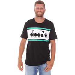 Υφασμάτινα Άνδρας T-shirt με κοντά μανίκια Diadora 502176632 Μαύρος