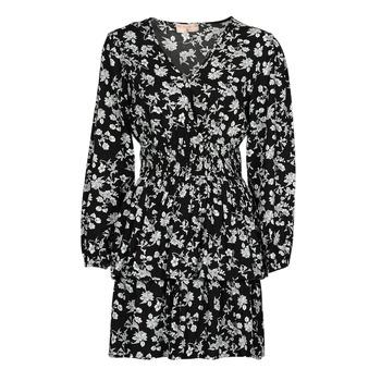 Υφασμάτινα Γυναίκα Κοντά Φορέματα Moony Mood PAPIS Black / Άσπρο