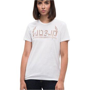 Υφασμάτινα Γυναίκα T-shirt με κοντά μανίκια Diesel T-SILY-W Άσπρο