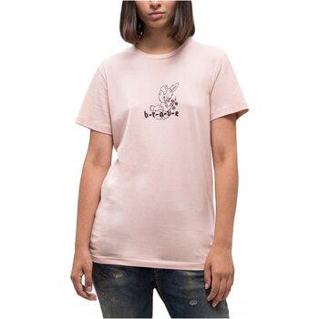 Υφασμάτινα Γυναίκα T-shirt με κοντά μανίκια Diesel T-FLAVIA-C Ροζ