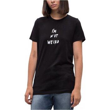 Υφασμάτινα Γυναίκα T-shirt με κοντά μανίκια Diesel T-FLAVIA-B Black