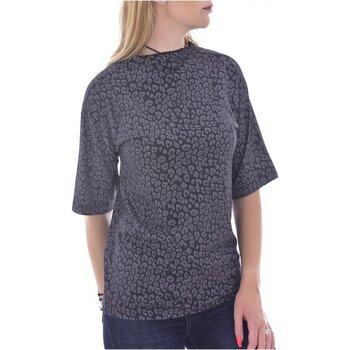 Υφασμάτινα Γυναίκα T-shirt με κοντά μανίκια Diesel T-KAS Black