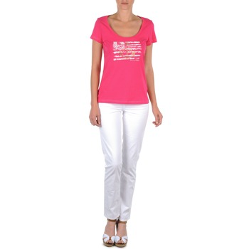 Υφασμάτινα Γυναίκα Παντελόνια Πεντάτσεπα Tommy Hilfiger LENNY Ροζ