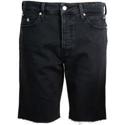Υφασμάτινα Άνδρας Σόρτς / Βερμούδες Calvin Klein Jeans  Black