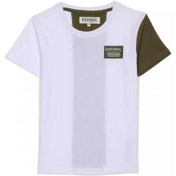 Υφασμάτινα Παιδί T-shirt με κοντά μανίκια Kaporal MINOR Άσπρο