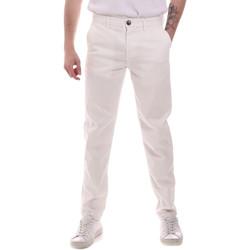 Υφασμάτινα Άνδρας Παντελόνια Chino/Carrot Sseinse PSE699SS λευκό