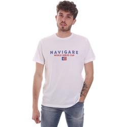 Υφασμάτινα Άνδρας T-shirt με κοντά μανίκια Navigare NV31139 λευκό