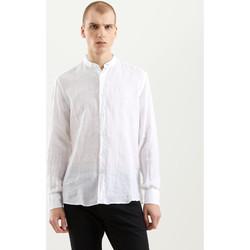 Υφασμάτινα Άνδρας Πουκάμισα με μακριά μανίκια Refrigiwear RM0C10100LI9110 λευκό
