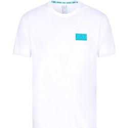 Υφασμάτινα Άνδρας T-shirt με κοντά μανίκια Ea7 Emporio Armani 3KPT50 PJAMZ λευκό