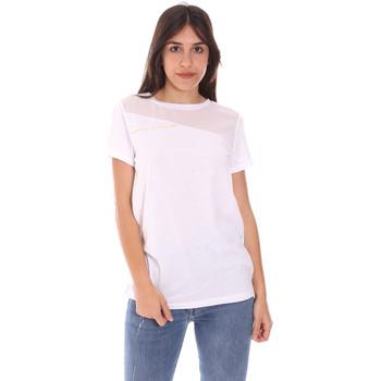 Υφασμάτινα Γυναίκα T-shirt με κοντά μανίκια Ea7 Emporio Armani 3KTT34 TJ4PZ λευκό