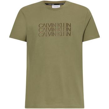 Υφασμάτινα Άνδρας T-shirt με κοντά μανίκια Calvin Klein Jeans K10K107158 Πράσινος