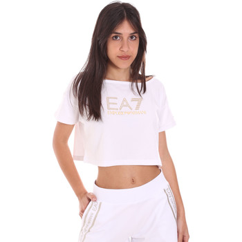 Υφασμάτινα Γυναίκα T-shirt με κοντά μανίκια Ea7 Emporio Armani 3KTT03 TJ28Z λευκό