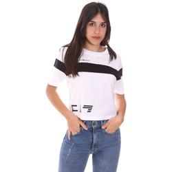 Υφασμάτινα Γυναίκα T-shirt με κοντά μανίκια Ea7 Emporio Armani 3KTT05 TJ9ZZ λευκό