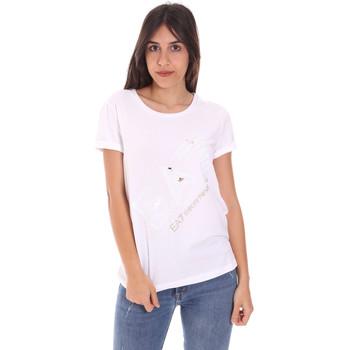 Υφασμάτινα Γυναίκα T-shirt με κοντά μανίκια Ea7 Emporio Armani 3KTT28 TJ12Z λευκό