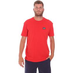 Υφασμάτινα Άνδρας T-shirt με κοντά μανίκια Ea7 Emporio Armani 3KPT63 PJ6EZ το κόκκινο