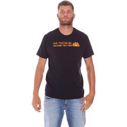 Υφασμάτινα Άνδρας T-shirt με κοντά μανίκια Sundek M049TEJ7800 Μαύρος