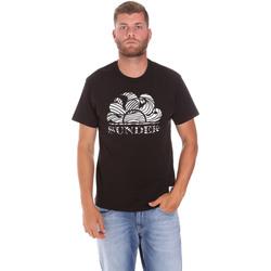 Υφασμάτινα Άνδρας T-shirt με κοντά μανίκια Sundek M027TEJ78ZT Μαύρος