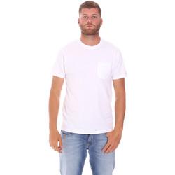 Υφασμάτινα Άνδρας T-shirt με κοντά μανίκια Sundek M050TEJ9300 λευκό