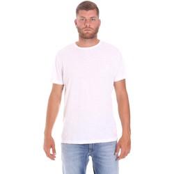 Υφασμάτινα Άνδρας T-shirt με κοντά μανίκια Lumberjack CM60343 021EU λευκό