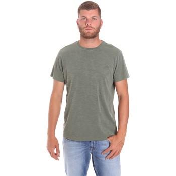 Υφασμάτινα Άνδρας T-shirt με κοντά μανίκια Lumberjack CM60343 021EU Πράσινος
