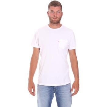 Υφασμάτινα Άνδρας T-shirt με κοντά μανίκια Lumberjack CM60343 022EU λευκό