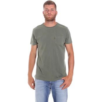 Υφασμάτινα Άνδρας T-shirt με κοντά μανίκια Lumberjack CM60343 022EU Πράσινος