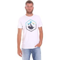 Υφασμάτινα Άνδρας T-shirt με κοντά μανίκια Lumberjack CM60343 023EU λευκό