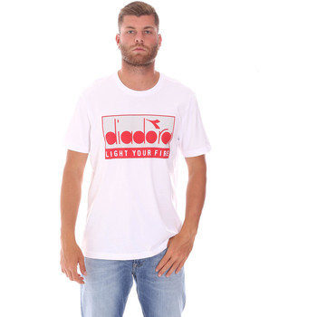 Υφασμάτινα Άνδρας T-shirt με κοντά μανίκια Diadora 502175835 λευκό