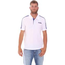 Υφασμάτινα Άνδρας Πόλο με κοντά μανίκια  Diadora 102175672 λευκό