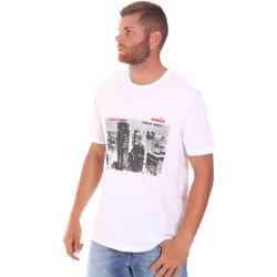 Υφασμάτινα Άνδρας T-shirt με κοντά μανίκια Diadora 102175861 λευκό