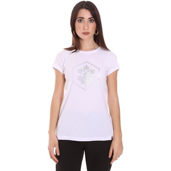 Υφασμάτινα Γυναίκα T-shirt με κοντά μανίκια Lumberjack CW60343 015EU λευκό