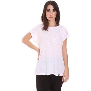 Υφασμάτινα Γυναίκα T-shirt με κοντά μανίκια Lumberjack CW60343 011EU λευκό
