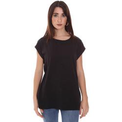 Υφασμάτινα Γυναίκα T-shirt με κοντά μανίκια Lumberjack CW60343 011EU Μαύρος