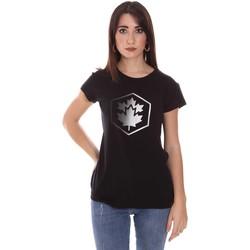 Υφασμάτινα Γυναίκα T-shirt με κοντά μανίκια Lumberjack CW60343 015EU Μαύρος