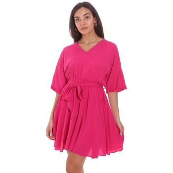 Υφασμάτινα Γυναίκα Κοντά Φορέματα Fracomina FR21SD1024W42801 Ροζ